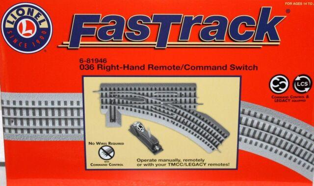 Lionel 6-81946 FASTRACK O36 SWITCH RIGHT HAND REMOTE/COMMAND NEW ............TK