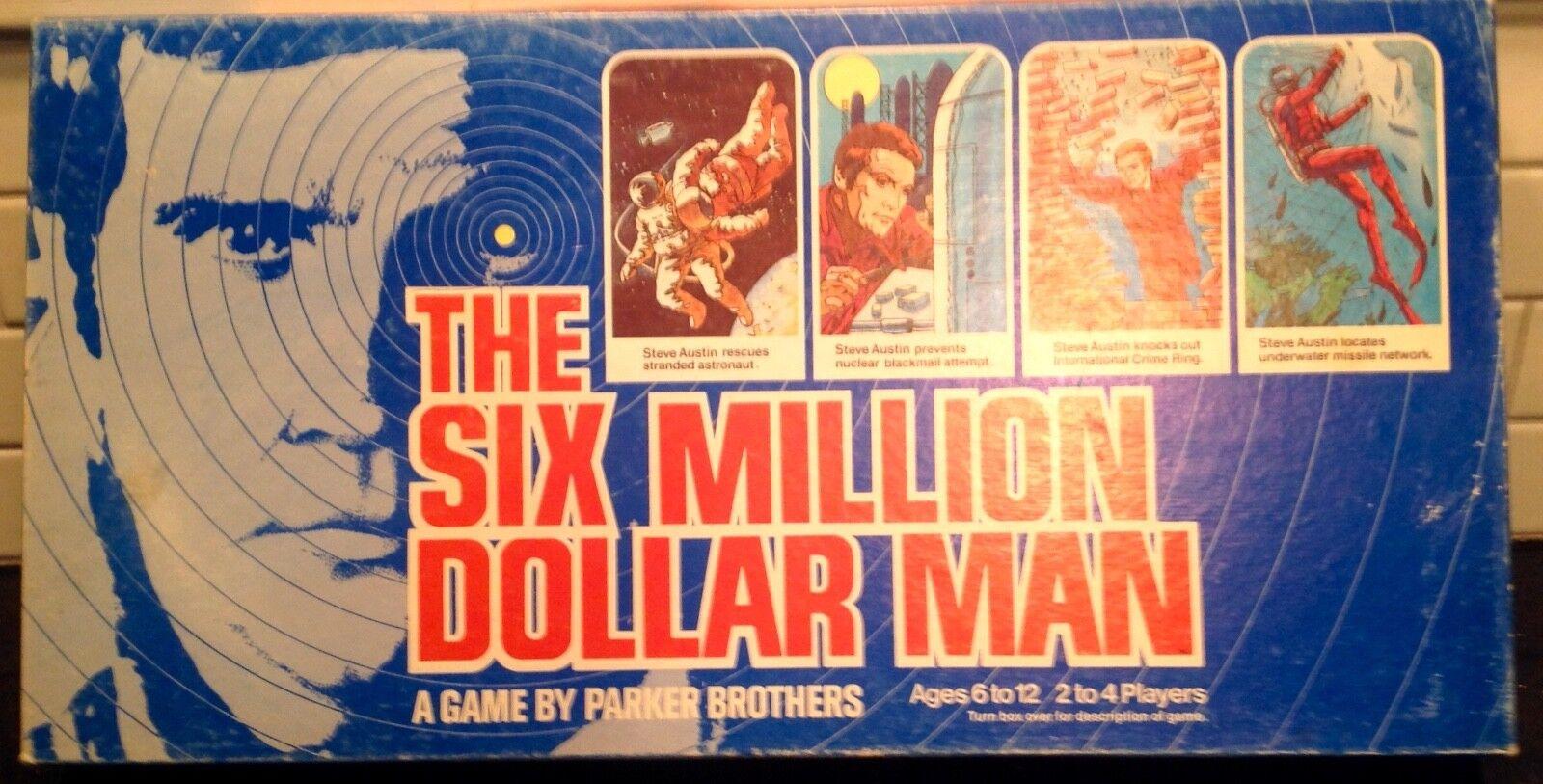 1975 Vintage The Six Million Dollar Man Board Game complet en boîte d'origine
