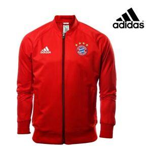 Adidas-Para-Hombre-FC-Bayern-Munich-Anthem-Chaqueta-Rojo-Futbol-libre-poste-de-orugas