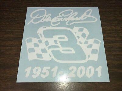 Window Toolbox Stickers #978 Nascar #3 Dale Earnhardt Sticker