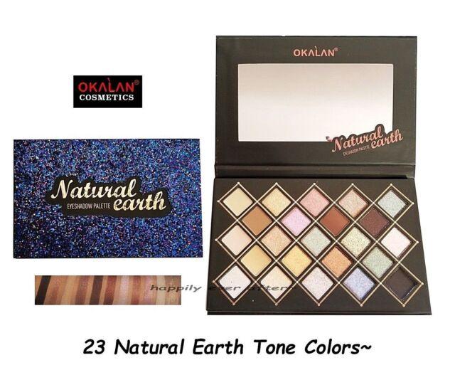 Buy Okalan Natural Earth Eyeshadow 23 Matte Glitter Color Palette