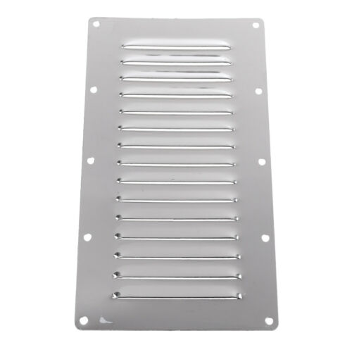 2x 304 Stainless Steel Air Vent Cover Panel Rectangle Louver Air Ventilation