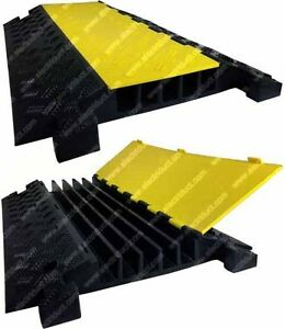 5 Channel Rubber Cable Protector Ramp - Safety Electrical Wire ...