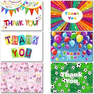 Pack 20 Thank You Cards Thankyou Postcards Notes Pads Childrens Kids