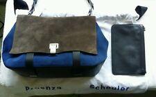 Proenza Schouler Courier Bag Cadet Blue/Pepe(dark grey)suede/black leather Large