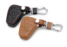 DDUOO Black Leather Key Fob Case Remote Keyless Protector with Tire Valve Cap for Jeep JK /& Unlimited JK 2007-2017 Key Fob Cover for Jeep Wrangler