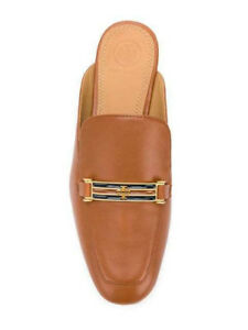 bb06dd6ed Image is loading 298-NWB-Tory-Burch-AMELIA-Backless-Brown-Loafer-