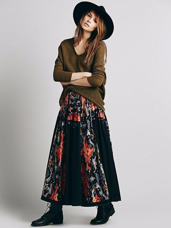 Free People One Roaring Twenties Floral Print Maxi Skirt-8- 128 MSRP