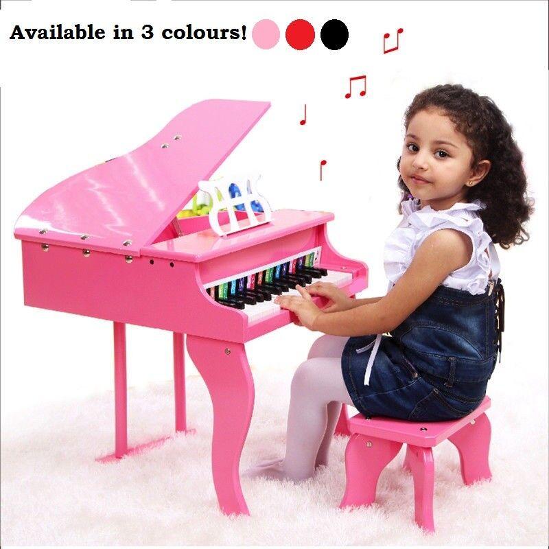 Enfants Unisexe Early Learning élégante en bois musical pratique Piano + Tabouret