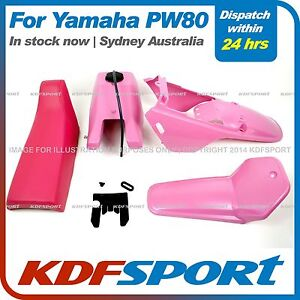 KDF-FOR-YAMAHAX-PW80-PY80-PLASTIC-FENDER-COVER-TANK-SEAT-ALL-PINK