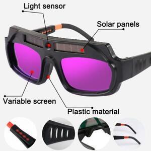 LCD Darkening Welding Mask Helmet Eyes Goggle Welder Glasses Solar Powered