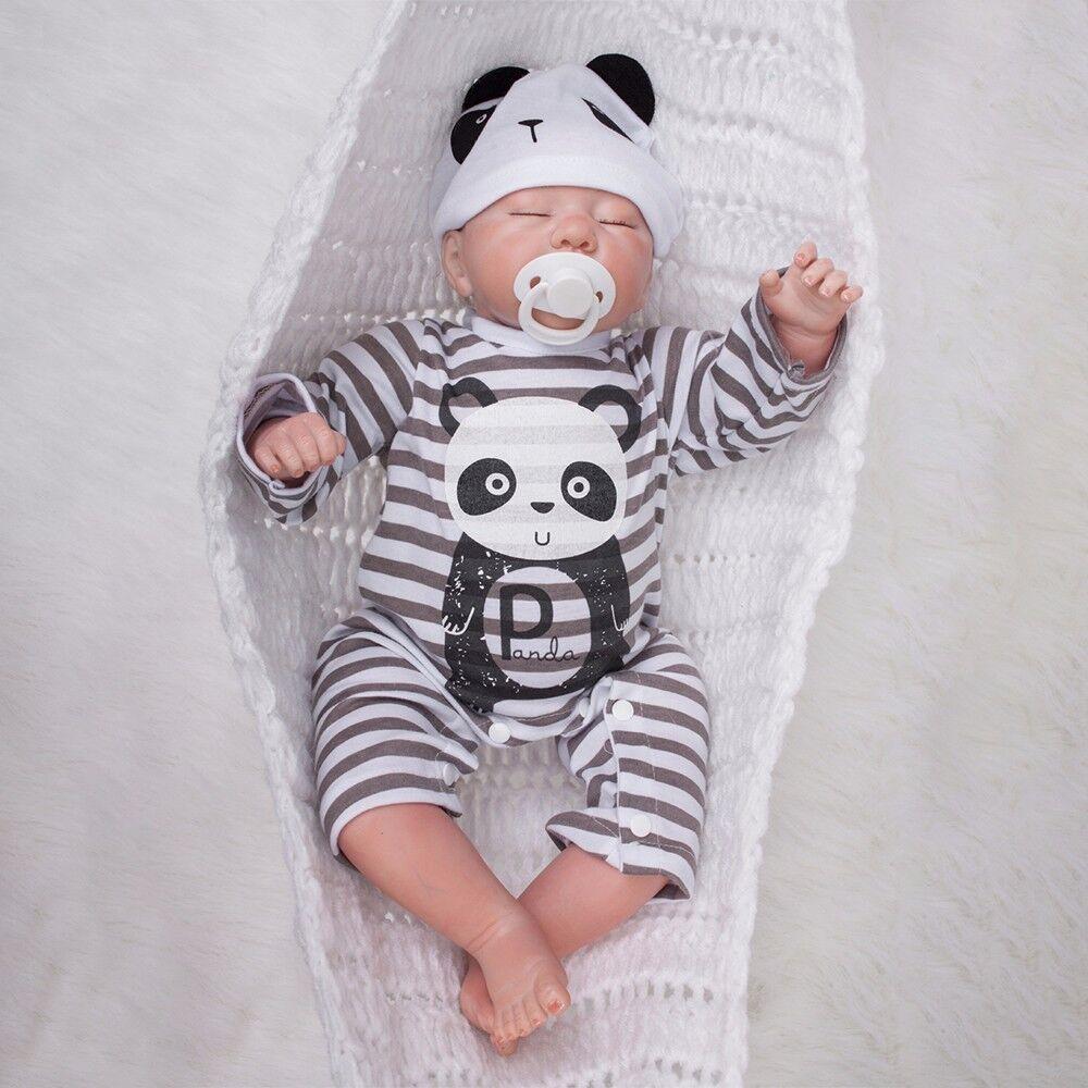 50cm Lebensecht Junge Boy Weich Silikon Vinyl Reborn Baby Doll Puppe Babypuppe