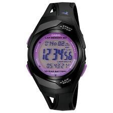 Casio STR300-1C Ladies 60 Lap Memory White Black Running Watch 10 Year Battery