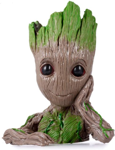 Groot Action Figures Guardians of The Galaxy Flowerpot Baby Cute Model Toy Pen Pot