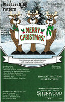 Reindeer Cheer Christmas Yard Art Woodworking Plans By Sherwood Creations