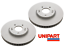 Carens 4 2012-/> Front Brake Discs Pair Unipart For Kia Pro Ceed Ceed
