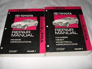 1993 toyota supra service manual shop repair factory 2jz turbo ebay rh ebay com Toyota Supre 93 98 93 Toyota Celica
