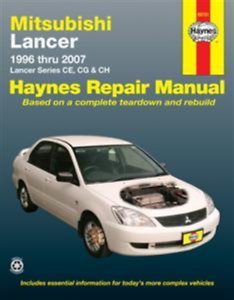 Mitsubishi Lancer 1996-2007 Lancer Series CE CG /& CH New Haynes Manual Workshop