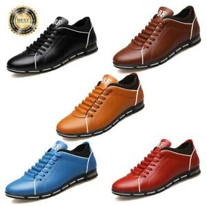 Men-039-s-Running-Sports-Leather-Shoes-Fashion-Breathable-Athletic-Sneakers-Casual
