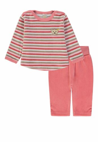 98 dusty rose rosa Steiff  Mädchen Nicki Schlafanzug 2 teilig gr gestreift
