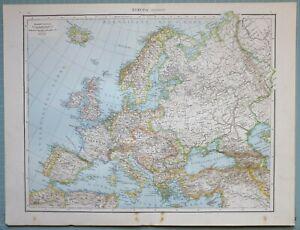 Cartina Italia Francia Spagna.Dettagli Su 1881 Mappa Europe Francia Isole Britanniche Germania Spagna Italia Russia