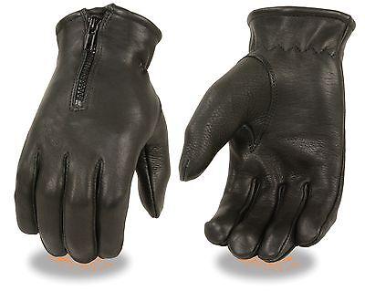 Men/'s Deerskin Leather Thermal Lined Glove w// Zipper Cuff