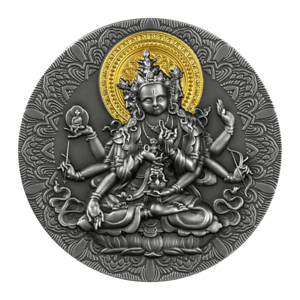 2020 Cameroon 2000 Francs Ancient Buddha 2 oz Silver Antiqued Coin - 500 Made