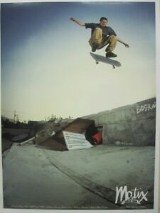 Matix-vintage-2000-Van-Wastell-2-sided-skateboard-promo-poster-New-Old-Stock