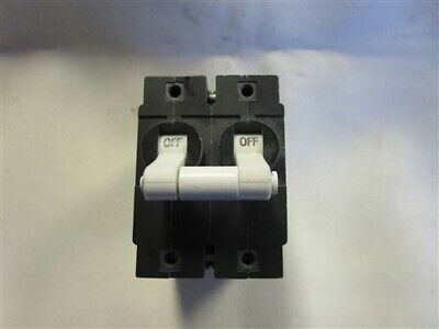 AIRPAX 15 AMP DOUBLE MARINE BOAT TOGGLE CIRCUIT BREAKER~White~
