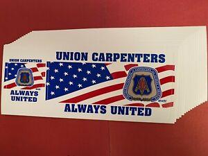 UBC-034-UNION-CARPENTERS-ALWAYS-UNITED-034-2-in-1-034-Union-Made-in-USA-034-VINYL-DECALS