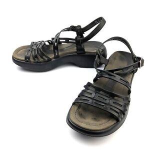 Dansko-Womens-Strap-Strappy-Comfort-Sandals-Black-Leather-Size-EU-39-US-8-5-9