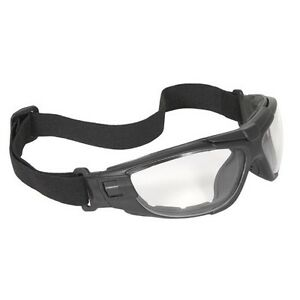 RADIANS Cuatro Clear Lens Anti-Fog Goggles Padded 4-in-1 Black Safety CT1-11