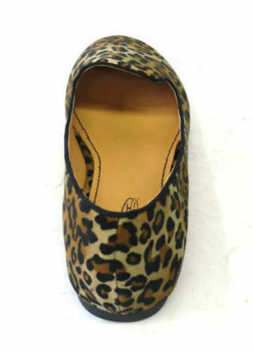 SALE LADIES SPOT ON DOLLY//BALLERINA SHOES F8754 COMES IN LEOPARD AND BLACK