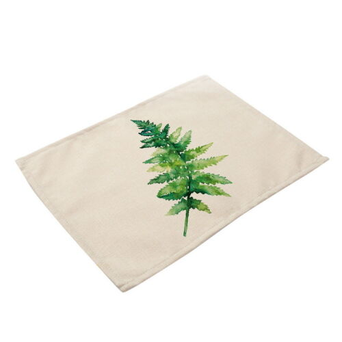Grüne Blätter Pattern Geschirr Tischset Küche Dinning Bowl Dish Pad Matte Decken