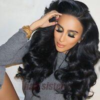 100% Fashion Brazilian Human Hair Silk Top Lace Front/full Lace Wigs Glueless Hz