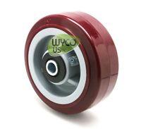 Poly Wheel 5x2, 1/2 Center, Great Non-marking Wheel, Carts, Floor Scrubbers