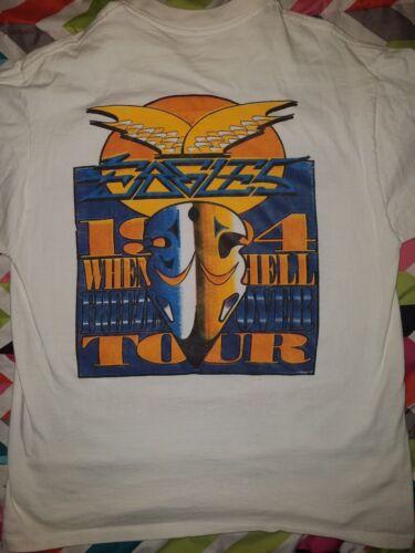 1994 vtg THE EAGLES hell freezes over CONCERT tour Rare T SHIRT 90s