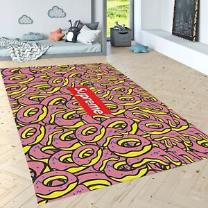 DONUT-SUPREME-Patterned-Carpet-Non-Slip-Floor-Carpet-Area-Rug-Modern-Carpet