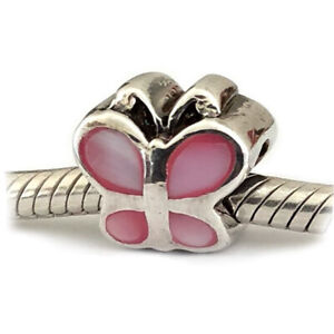 Mother-of-Pearl-Butterfly-Charm-for-Bracelet-Large-Hole-Bead-Sterling-Silver
