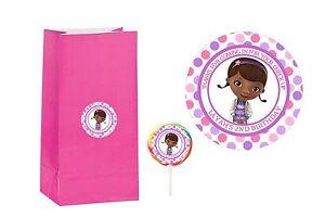 20-Doc-McStuffins-2-inch-Stickers-Party-Bag-Tags-Favors-Lollipop-Personalize