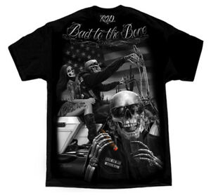 David-Gonzales-Art-DGA-Ride-Or-Die-Born-To-Be-Wild-Adult-Mens-T-Tee-Shirt
