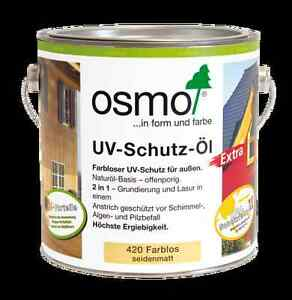 osmo uv schutz l 420 extra 2 5l farblos seidenmatt nur f r au en mit b ebay. Black Bedroom Furniture Sets. Home Design Ideas