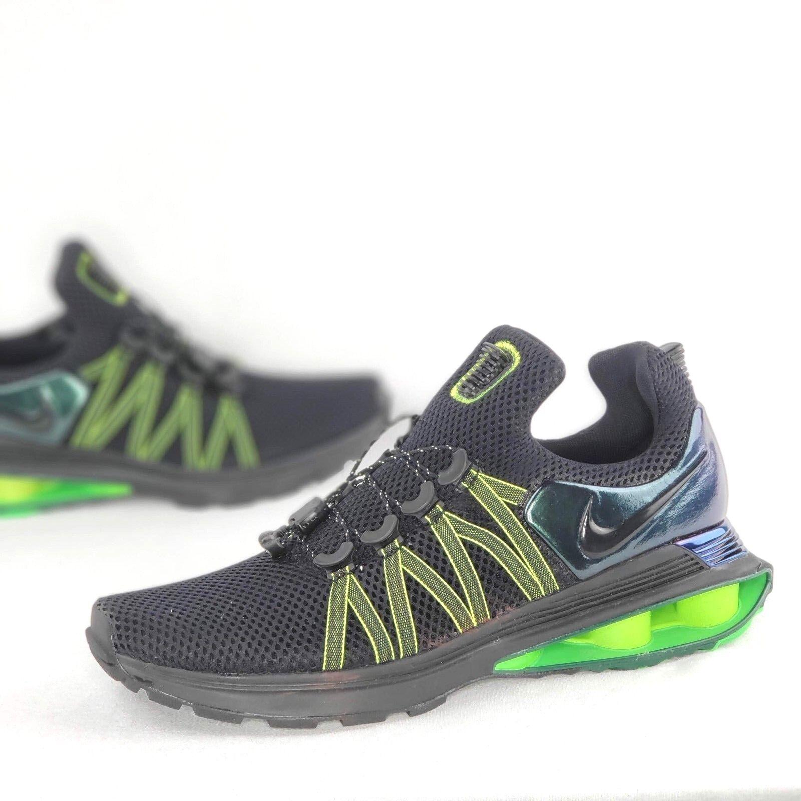 Nike Shox Gravity Mens Black Gorge Green Hot Lime Running shoes AR1999 003