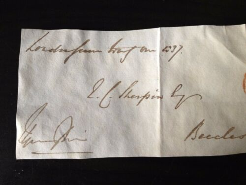CHANCELLOR OF THE EXCHEQUER THOMAS SPRING RICE SIGNED ENVELOPE FRONT