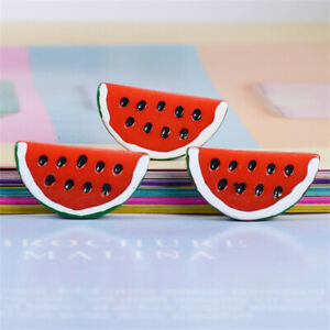 33x17mm-Flat-Back-Watermelon-Resin-Fruit-Slice-DIY-Art-Craft-Decorations-10-Pack