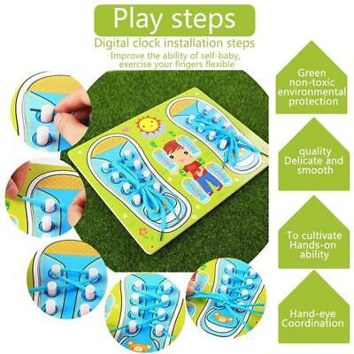 Educational Shoe Laces Board Pegged Puzzles Learn To Tie Your