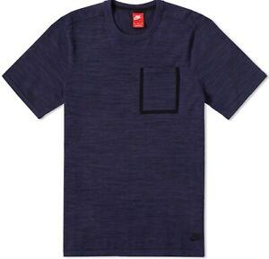 Nike Sportswear Tech Knit Men's Top 729397-451 Deep Roy/Obsidian (Size XS) Great