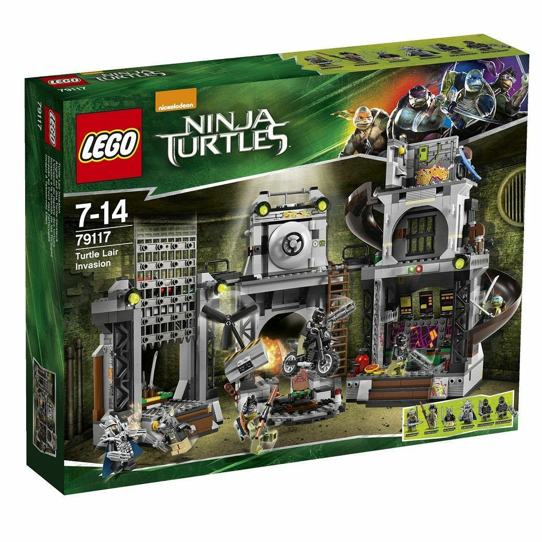79117 TURTLE LAIR INVASION lego NEW legos set TMNT splinter shROTder Donatello