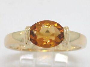 Citrin-Ring-585-Gelbgold-14Kt-Gold-mit-natuerlichem-Citrin