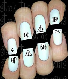 Harry-Potter-DH-logos-sticker-autocollant-ongles-manucure-nail-art-water-decal